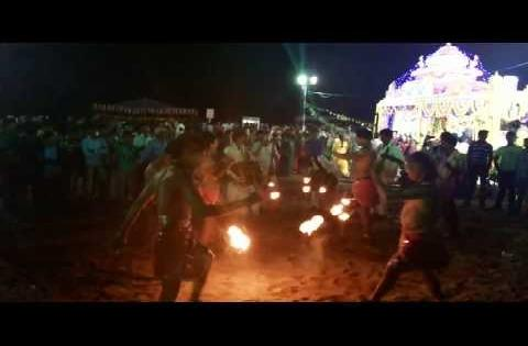 With Flame : Sagara Sambaralu Beach festival in Kakinada