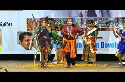 Girls Dance performance in gurajada kalakshetram