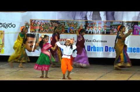 Dance: Girls Dance performance in gurajada kalakshetram