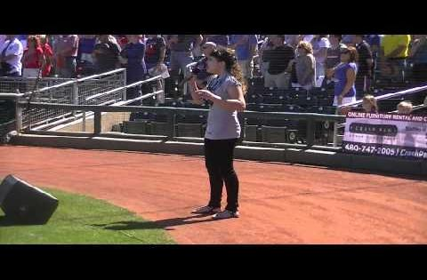 Athena Creese National Anthem - MLB Spring Training 2014