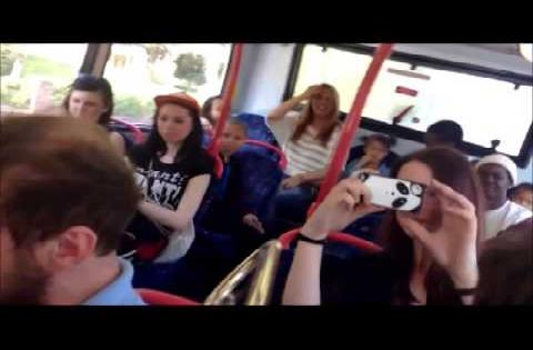 Hosen on a Bus - Oompah Band Flashmob in Birmingham