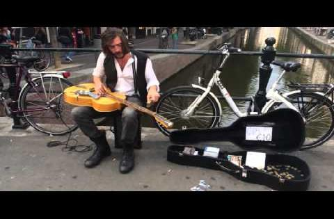 Jack Broadbent amazing busker in the Amsterdam