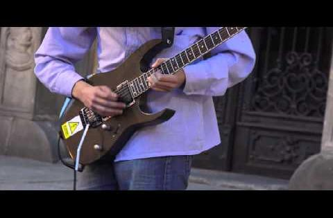 AMAZING street electric guitarist performance compilation! PART 1