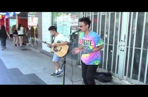 BUSKING! | Pt. 1 | ThienTunes & DavidCallejaMusic (WATCH IN 1080p)