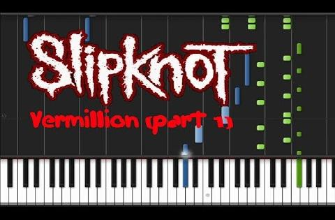 Slipknot - Vermillion part 1 Synthesia Tutorial